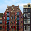 Facades of old houses ,  Amsterdam, Netherlands — Stock Photo