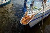 Sailboat detailed parts — Zdjęcie stockowe