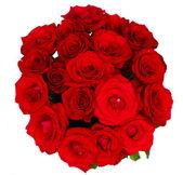 круглый букет из красных роз — Стоковое фото