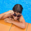 Taking sunbath by the pool — Stock Photo