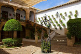 Courtyard of a typical house in Cordoba, Spain — Stock Photo