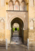 Main access to Cathedral Mosque Patio in Cordoba — Stock Photo