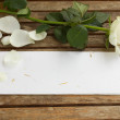 Stock Photo: Blank letter with rose
