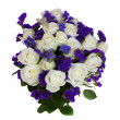 Bouquet of white roses — Stock Photo