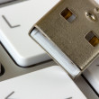 Royalty-Free Stock Photo: Keyboard and usb devise