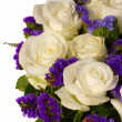 Stock Photo: Bouquet of white roses