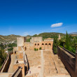 Alcazaba fortress, Alhambra, Granada, SPain - Stock Photo