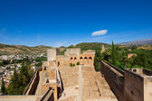 Alcazaba fortress, Alhambra, Granada, SPain — Stock Photo