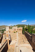 Alcazaba fortress in Alhambra, Granada, SPain — Stock Photo