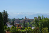 Alhambra, and mountains Spain — Stock Photo
