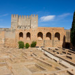 Alcazaba of Alhambra, Granada, Spain - Stock Photo