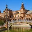 Bridge of  Plaza de España, Seville, Spain — Foto de Stock