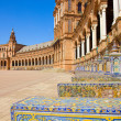 Benches of  Plaza de España, Seville, Spain - Stock Photo