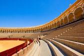 Seats of bullfight arena, Sevilla, Spain — Stock Photo