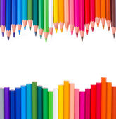 рама разноцветные карандаши — Стоковое фото