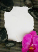 Blank page with spa setting — Stock Photo