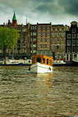 Canals of Amsterdam, Netherlands — Foto de Stock