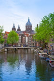 Church of St Nicholas, Amsterdam, Holland — Stock Photo