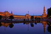 Plaza de España at night, Seville, Spain — Stock Photo