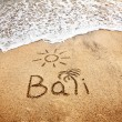Stock Photo: Bali on sand
