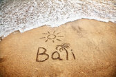 Bali on the sand — Stock Photo