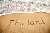 Thailand on the sand — Stock Photo