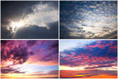 Dramatic sky collection — Stock Photo