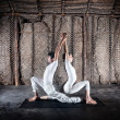 Stock Photo: Couple yogin India