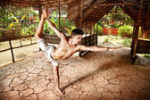 Yoga natarajasana in India — Stock Photo