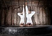 Yoga headstand — Stock Photo