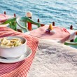 Ocean view restaurant — Stock Photo