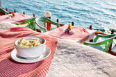 Ocean view restaurant — Stock Photo