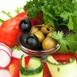 Platter of assorted fresh vegetables - Stock Photo