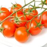 Fresh tomatoes on white — Stock Photo #11796007