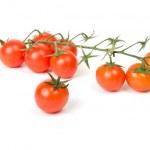 Fresh tomatoes on white — Stock Photo #11796427