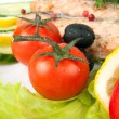 Tomato in the meal — Stock Photo
