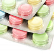 Color tablets in packing — Stock Photo