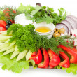 Stock Photo: Platter of assorted fresh vegetables
