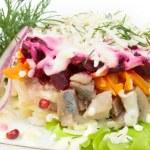 Salad isolated on white background — Stock Photo #11800665