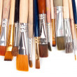 Stock Photo: Paint brushes on a white background.