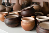Clay pottery ceramics — 图库照片