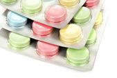 Kolor tabletek w opakowaniu — Zdjęcie stockowe