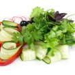 Stock Photo: Salad isolated on white
