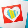 Stock Photo: Valentines Day. Paper Heart