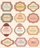 Vintage Labels — Stock Vector