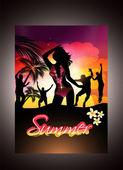 夏のビーチ パーティー — ストックベクタ