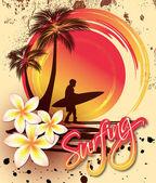 Surfista — Vector de stock