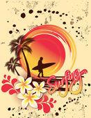 Surfer — Stock Vector