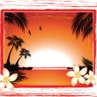 Beach sunset — Stock Vector