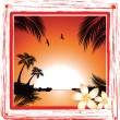Beach sunset — Stock Vector #11809230